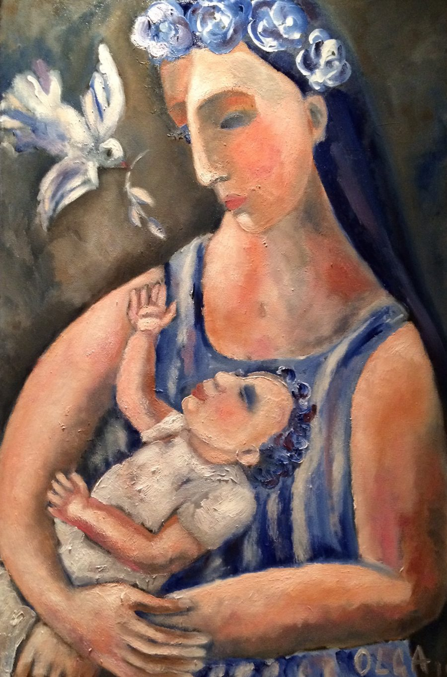 Madonna and child painting | by Olga Bakhtina