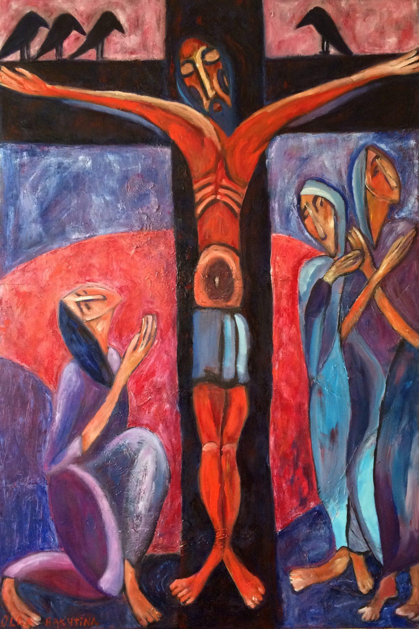 Crucifixion painting | Olga Bakhtina