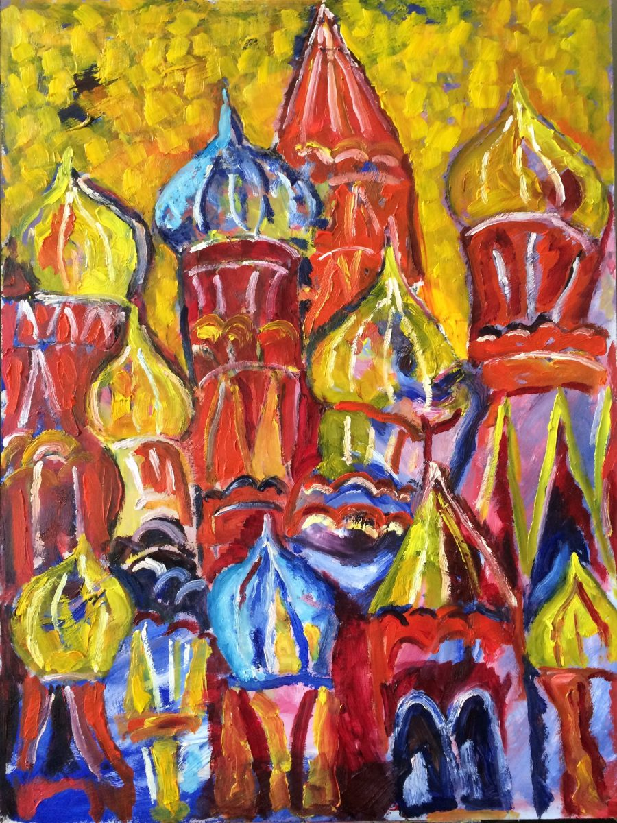 St Basil Cathedral, Moscow painting | by Olga Bakhtina