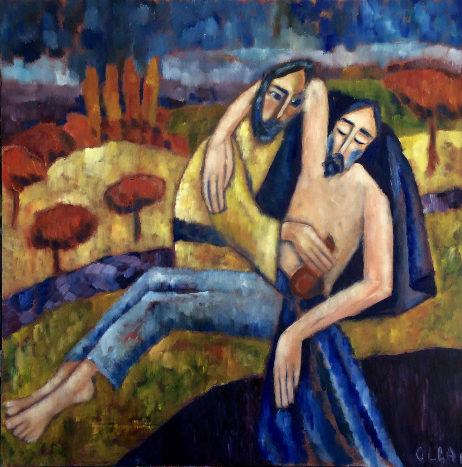Good Samaritan painting | Olga Bakhtina