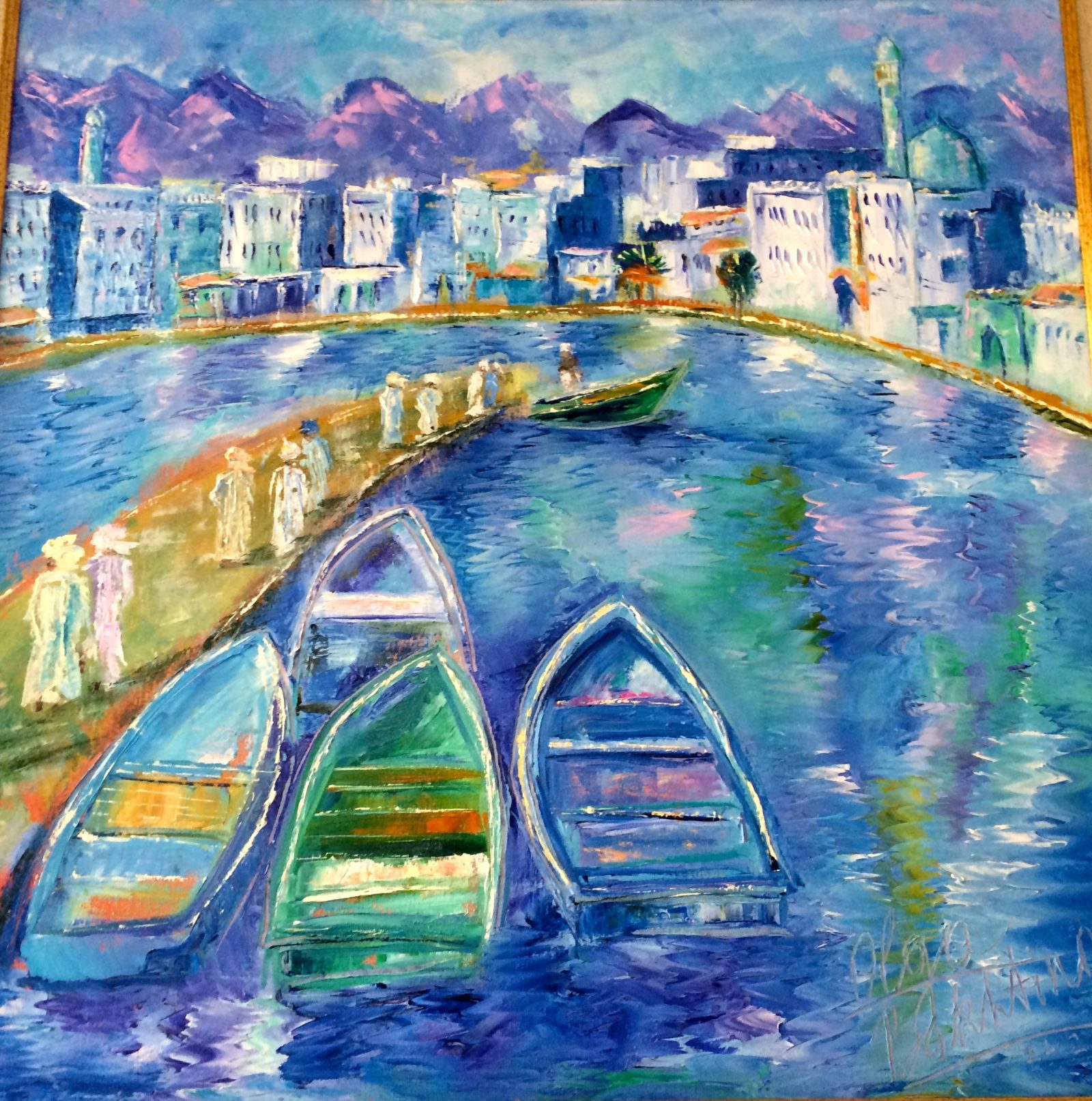 Morning Corniche painting | Olga Bakhtina