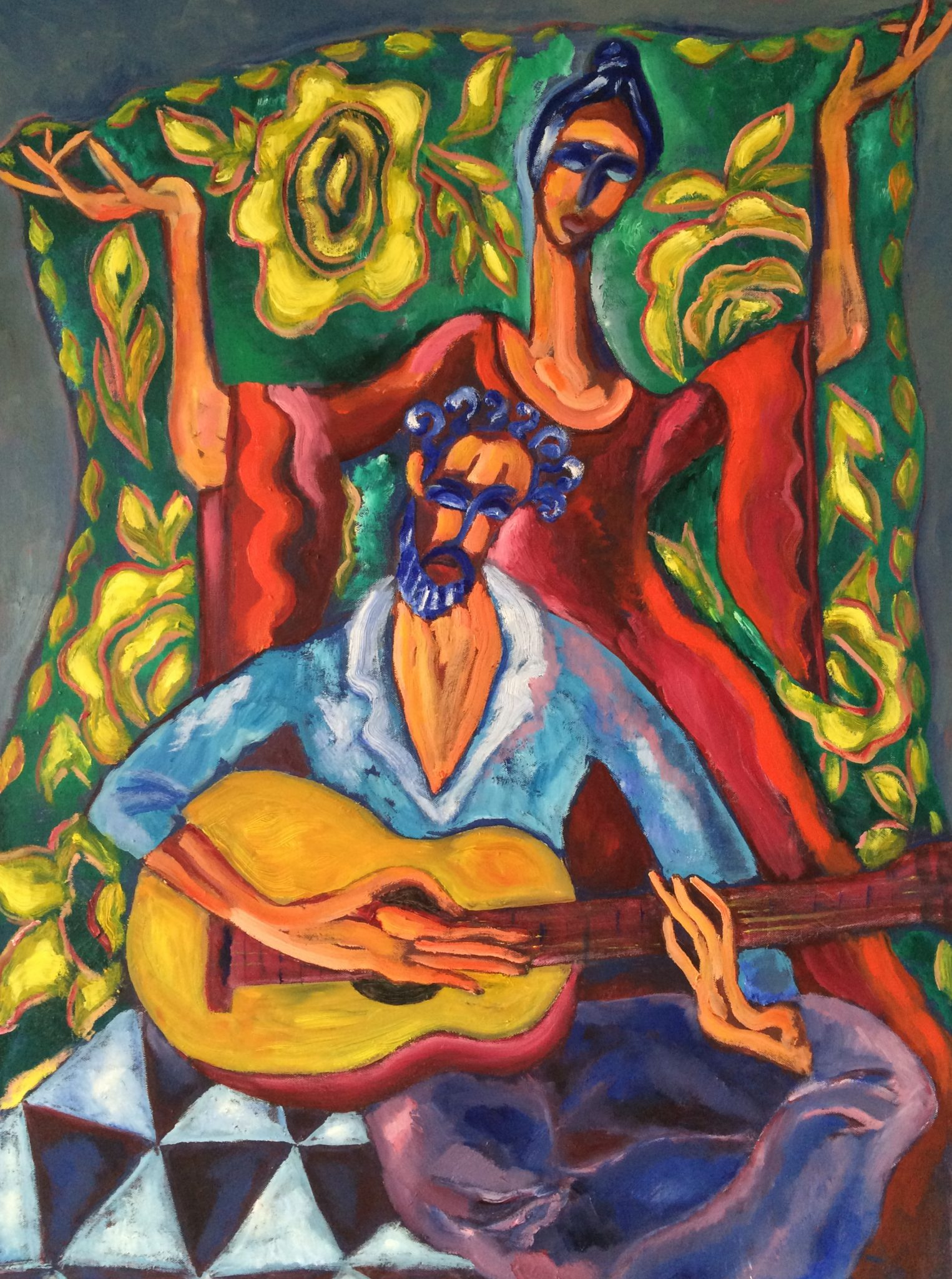 Spanish Guitar painting | Olga Bakhtina
